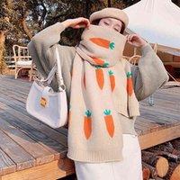 New scarf female winter Korean version versatile wool thickened warm radish double-sided student Bib dual-purpose shawl