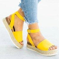 SA Demeng cunhas sapatos para mulheres saltos altos Sandálias Sapatos de verão Flip Flop Chaussures Femme Platform Sandals Plus Size 35-43