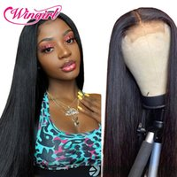 Lace Wigs Wingirl 13x6 Front Human Hair 220 Density HD Transparent Pre-Plucked Brazilian Straight Frontal Wig Remy