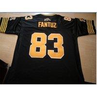 Gute Hamilton Tiger-Katzen Andy Fantuz # 83 Gute Schwarzweiß-voller Stickerei College-Jersey-Größe S-5XL oder benutzerdefinierte Name oder Nummer Jersey