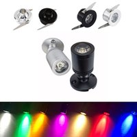Downlights 1W 미니 스포트 라이트 AC 110V 12V 24V 천장 리 세스 램프 홈 홈 캐비닛 조명 LED 흰색 정착물