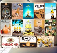 2021 Corona Extra Beer Plaque Metal Tin Sign Sign Absolut Miller Time Wall Art Poster Bar Pub Cafe Club Decoration Vintage Hogar Decor Size 20x30