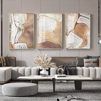 Pinturas Simple Nordic Arte Arte Abstracto Río Línea Pintura al óleo Sala de estar Dormitorio Niche Decorative Picture Lienzo Impresión