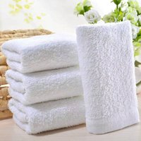 Wholesale household cotton disposable white towel water absorbent thickened bath towel Hotel foot care salon supplies