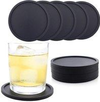 الوقايات السيليكون عدم الانزلاق كأس الوقايات مقاومة للحرارة كوب ميت لينة كوستر لحماية منضدية يناسب حجم نظارات الشرب WWA203