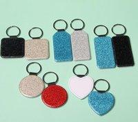 Heat Transfer Leather Keychains Fine Flash Sublimation Blank DIY Keychain Car Key Ring Creative Gift Supplies