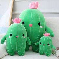 Bonito 3D Cactus travesseiro verde amantes de bebê plantar almofadas para jardim quarto quarto decoração de casa novidade pelúcia pelúcia brinquedos brinquedos almofada livre dhl navio hh21-480
