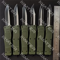 Personalized Laser Engraved Large A161 Dual action Automatic Knife OD Green Handle 440C Blade EDC Tactical 616 Custom Auto Pocket Knives Free Engraving Cncostco
