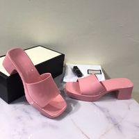 Vente chaude-designer Sandales Femmes talons hauts Talons en caoutchouc Sandal Sandal Plateforme Slunky