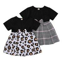 Aby Kızlar Elbiseler Gündelik Elbise Kız Elbise Kız Giyim Çocuk Giysileri Yaz Pamuk Leopar Ekose 0-3Y B4250