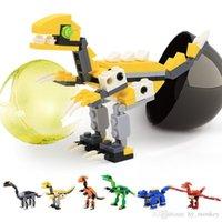 12 adet Yapı Taşları Kapsül Dinozor Serisi Mini Hayvan T-Rex DIY Eğitici Çocuk Oyuncak Hediye Komik Yumurta Aksiyon Oyuncak 02