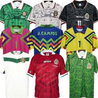 1995 레트로 멕시코 블랑코 축구 유니폼 1986 1994 1998 Hernandez H.Sanchez 축구 셔츠 루이스 가르시아 캄파 고대 Maillot Marquez 2006