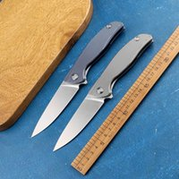 F95 ball bearing D2 blade TC4 titanium handle outdoor camping hunting self-defense fishing kitchen folding knife EDC tool