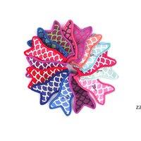 10 ألوان حورية البحر الذيل مكافحة تجميد المصاصات الأكمام أدوات الآيس كريم أصحاب المصاصة حاملي العزل حقيبة HWE7055