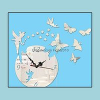 Fridge Magnets Décor Home & Gardencreative Diy Butterfly Acrylic Stick Fashion Living Room Wall Clock Drop Delivery 2021 Imel9