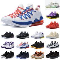 Toptan Jumpman XVII 17 Düşük Tune Kadro Lakers Ev Beyaz Mor Sarı Sıcak Satış En Iyi Erkekler Kadınlar Basketbol Ayakkabı Ücretsiz Kargo