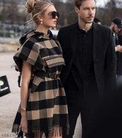 2021Brand Женские накидки Street Style Star коричневый дизайнер женщины с капюшоном с капюшоном с капюшоном с капюшоном с капюшоном платок плащ куртка плюс размер S-XL альбом DHL