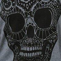 여성용 티셔츠 풀오버 해변 오프 어깨 파티 캐주얼 배트 윙 슬리브 가을 봄 여성 티셔츠 일일 패션 탑스 느슨한 두개골 인쇄