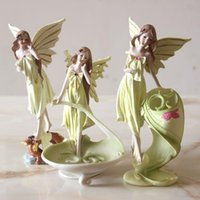 Craft Tools Angel Girl Modern Simple Bedroom Living Room Ornaments Flower Fairy Resin Crafts