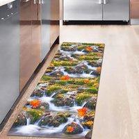 Tapis Thegost Thegost 3D Panorama imprimé Cuisine Tapis d'entrée Porméatère Chambre à coucher Couloir Tapis de sol Tapis d'eau Absorption Absorption Anti-Slip Tapis