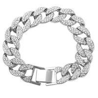 US STOCK BLING HIP HOP BLING CHAÎNES DE MODE BIJOUX MENS GOLD ARGENT MIAMI CUBAN LIEN Colliers de chaîne Diamant Glafed Out Chian Colliers