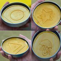 Squid Game Sugar Honeycomb Cake Biscuit Mould 6-Piece Set Full Kit Dalgona Candy Recipe Round Pentagonal Star Umbrella-shaped Triangle SN5924