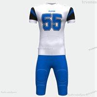 Mens Womens Kids Custom Football Jerseys CUSTOMIZE NAME NUMBER Black WHite green Blue Stitched Shirts Jersey S-XXXL B94