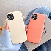 Moda ovale Semplice Custodia per telefono a colori solido per iPhone 11Pro SE XR X XS Max 7 8 Plus Carino Colore caramelle Matte Ultra-Slim Cover Soft