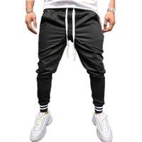 Sıcak Erkekler Tasarımcı Pantolon Pantolon Sonbahar Kış Eşofman Fitness Egzersiz Joggers Katı Siyah Gri Sweatpants M-3XL