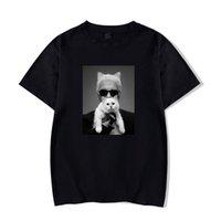 T-shirt Karl Cat de haute qualité Lagerfeld Vogue T-shirt Femmes Blanc / Noir 100 Coton Casual Gothic Top Femme Sauvage Sleeve Sleeve