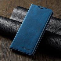 Titulaire de cartes en cuir Boîtier Waller pour Huawei P30 Lite Mate 20 PRO P20 Lumière Magnet Stand Cover pour Huawei Honor 10i 20s Coque