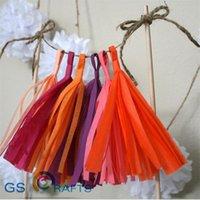 10 Sac DIY Party Anniversaire Decoration De Mariage Crafts Tissu Papier Tassels Papier Papier Pom Fleurs Boules
