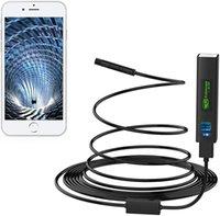 Telecamera del serpente wireless da 8mm 2m / 5m 1200p WiFi Telecamere di ispezione Endoscopio HD Endoscopio 8 LED Cavo rigido Cavo BoresCope per iPhone Android Smartphone Table PC