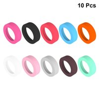 Mats & Pads 10pcs Silicone Round Coasters Vacuum Cup Bottom Sleeve Water Bottles Rings Protective Cover (Mixed Colors, Small)