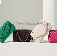 Nuevo bolso de la cadena de onda con bolso con forma de vintage clásico Diseñadores de lujo vintage Crossbody Bolsos de patrón de un solo hombro