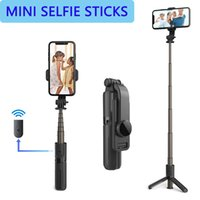 Treppiede portatile con remoto wireless rimovibile e mini treppiede tappo selfie stick per iOS Android Phone, altro
