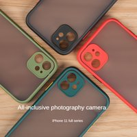 Cell phone Cases For iPhone 13 12 11 Pro Max XR XS X 8 7 6S Plus Matte Translucent Shockproof Double contrast Back Cover