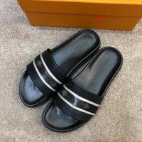 Paris Moda Kaydırıcılar Erkek Yaz Sandalet Plaj Terlik Erkekler Çevirme Loafer'lar Siyah Beyaz Kırmızı Slaytlar Chaussures Ayakkabı ile Kutusu Boyutu 39-45 -N80