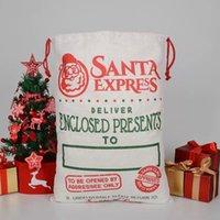 NOUVEAU!!! Sacs-cadeaux de Noël Sac à linge de coton SANTA SACK XMAS Rennes Sac imprimé de poche de cordon 5 styles owe9585