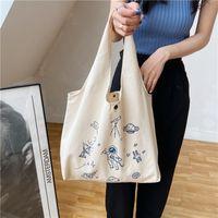 Louis Vutton BagSimple Portable Diaper Handbags Large Capacity Women Shopping Tasks Cartoon Printing Student Girls Canvas Shoulder BagsDesigner Bags