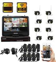 "Yobang 보안 8CH 무선 NVR 키트 방수 10 ""모니터 1.3MP 홈 보안 CCTV IP 카메라 야외 WiFi 감시 시스템"