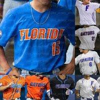 2021 NCAA Florida Gators 대학 야구 유니폼 Ryan Cabarcas Hunter Barco Brandon Sproat Jud Fabian Kirby McMullen