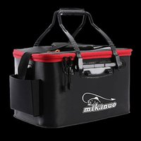 Fishing Accessories Portable EVA Bag Collapsible Bucket Live Fish Box Camping Water Container Pan Basin Tackle Storage