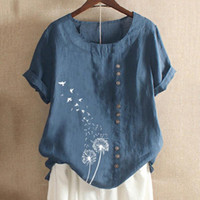 Brand Blouses Woman Summer O- Neck Big Size Tunic Tops 2021 C...