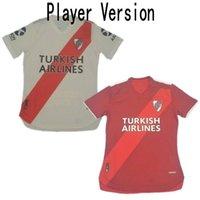 2020/21 River Player Version Jersey de football 2021 # 9 Alvarez Suarez Perez Uniforme Hommes # 27 PRATTO MARTINEZ Ponzio Player Football Shirt