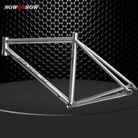 NOWSGONOW Titanyum Alaşım Aks İç Kablo Yol Bisiklet Çerçevesi 700C Çevrim / Bisiklet Disk Bölümü Özel Logo ve Ad Kabul