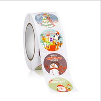 500 Sheets Roll Round Labels Christmas Decorations Thank You Packaging Sticker for Candy Bag Gift Box Packing Party Wedding A17