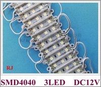 36mm * 09mm SMD 4040 LED-Lichtmodul 3 LED-Zeichenbuchstabe Licht DC12V SMD4040 3LED IP65 wasserdicht 500 teile / los High Hell