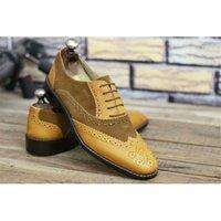 الخريف موسم نمط عصري بو لون حظر الدانتيل دعوى الأعمال الجميلة مخيط أحذية رجالية ZZ325 210906
