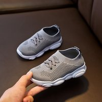 Athletic & Outdoor Kids Fashion Sneakers Baby Sock Shoes Rubber Soft Sole Flat Casual Children Toddler Girls Boys Plus Size 22-39